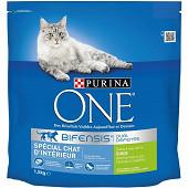 PURINA ONE Chat d'Intérieur Croquettes pour chat adulteà la Dinde et aux Céréales Complètes - 1,5kg