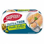 Saupiquet filets thon huile olive vierge extra 1/6 115g