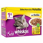 Whiskas sachets fraîcheur pour chat en gelée les délices de volailles 12x100g