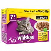 Whiskas sachets fraîcheur pour chat en sauce les assortiments de viandes 12x100g