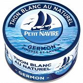 Petit Navire thon blanc naturel 1/6 93g
