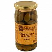 Patrimoine gourmand olives vertes picholines 200g