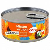 Cora miettes de thon à l'huile de tournesol 104g