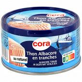 Cora thon albacore au naturel en tranche 93g net égoutté