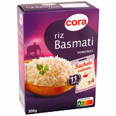Cora riz basmati 4 x 125g