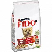 FIDO CROQ MIX Croquettes pour petits chiens de moins de 25kg Bœuf, Légumes - 1 KG