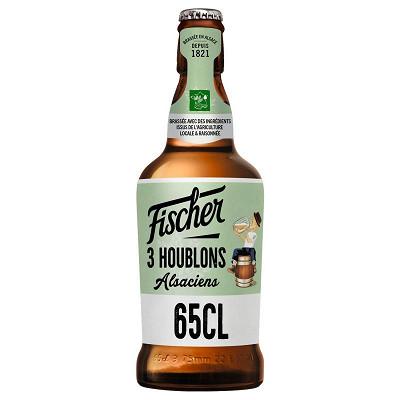 Fischer Fischer 3 houblon alsacien bière blonde houblonnée 65cl 7.2%vol