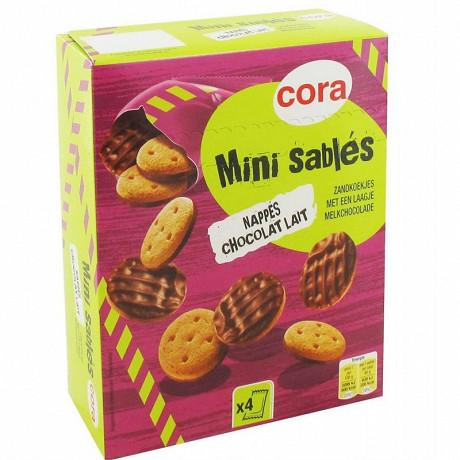 Cora mini sablés nappés chocolat lait 160g