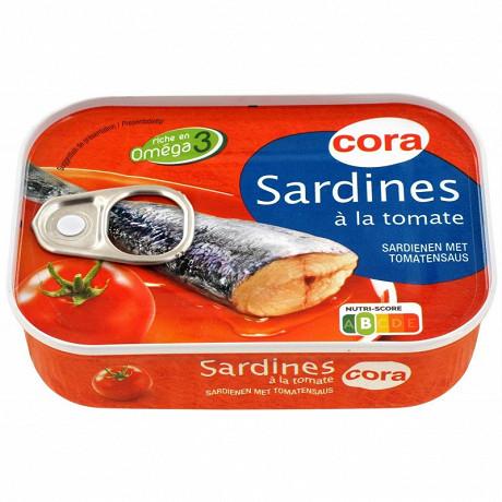 Cora sardines à la tomate 135g