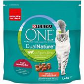 PURINA ONE DUALNATURE croquettes pour chat adulte stérilisé - avec de la Spiruline, au Bœuf - 1,4kg