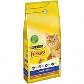 FRISKIES Croquettes pour chat adulte stérilisé À la Dinde et aux Légumes -  2kg