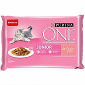 Nestle purina one junior saumon 4x85g
