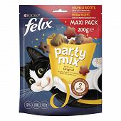 FELIX Party Mix Original Friandises pour chat Poulet, Foie, Dinde - 200 g