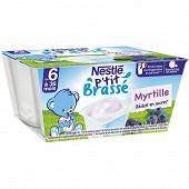 Nestlé p'tit brassé myrtille dès 6 mois 4x100g