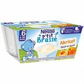 Nestlé p'tit brassé abricot dès 6 mois 4x100g