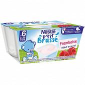 Nestlé p'tit brassé framboise dès 6 mois 4x100g