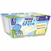 Nestlé p'tit brassé banane dès 6 mois 4x100g