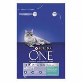 PURINA ONE Croquettes pour chat adulte au Poisson de Mer et aux Céréales Complètes - 3 KG