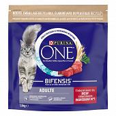 PURINA ONE Croquettes pour chat adulte au Boeuf et aux Céréales Complètes - 1,5 KG