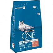 PURINA ONE Croquettes pour chat adulte stérilisé - au Saumon et au Blé - 3 KG
