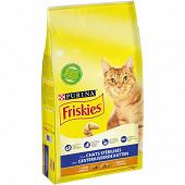 FRISKIES Croquettes pour chats adultes stérilisés À la Dinde et aux Légumes - 7,5 KG
