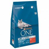 PURINA ONE Chat Stérilisé Croquettes pour chat adulte au Bœuf et au Blé - 3 KG