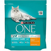 PURINA ONE Chat Urinary Care Croquettes pour chat adulte au Poulet et au Blé - 450g