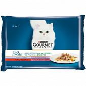 GOURMET PERLE sachets repas pour chats adultes - Les Filettines Avec des légumes 4x85g
