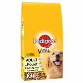 Pedigree croquettes pour chien adulteà la volaille et aux légumes sac 10kg
