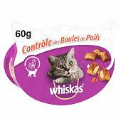 Whiskas boîte friandises pour chat les irrésistibles contrôle des boules de poils 60g