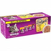 Whiskas sachets fraicheur les marmitons à la volaille en gelée 3.4kg