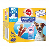 Pedigree dentastix pour petits chiens 56 sticks 880g
