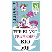 Clipper thé blanc framboise 34g