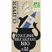 Clipper thé noir english breakfast 44g 20 sachets
