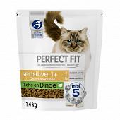 Perfect fit chat sec sensitive riche en dinde 1.4kg