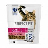 Perfect fit croquettes chat adulte stérilisé riche boeuf 1.4kg