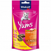 Cat Yums poulet+herbe-à-chats+Inulin+20%