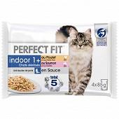 Perfect fit chat stérilisé mixte 4 x 85g