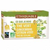 Ethiquable thé vert gingembre citron vert 36g