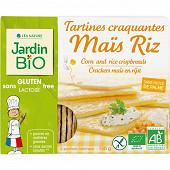 Jardin bio tartines craquantes au mais et au riz sans gluten bio 150g