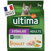 Ultima chats sterilises poulet 3kg