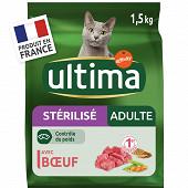 Ultima croquettes chat stérilisé adult boeuf 1.5kg