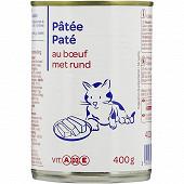 Patée au boeuf pour chat boite 1/2 400g