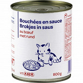 Bouchée en sauce au boeuf pour chat 4/4 800g