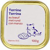 Terrine au boeuf pour chat 100g