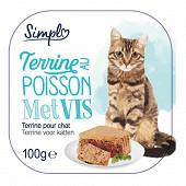 Pâtée chat poisson barquette 100g