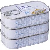 Sardines à l'huile de tournesol  3 X 88G