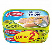 Saupiquet filets thon huile olive vierge extra 1/6 115g lot x2 maxi gourmand