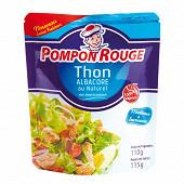 Pompon rouge sachet de thon albacore naturel en morceaux 110 g