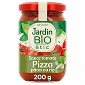 Jardin bio étic sauce tomate pour pâtes riz pizza bio 200g